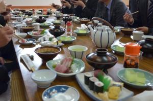 入社式昼食
